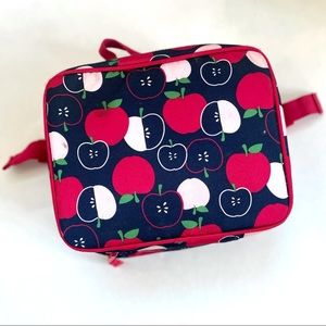 🎯3/$10 Gymboree Navy Apple Insulated Lunch Bag